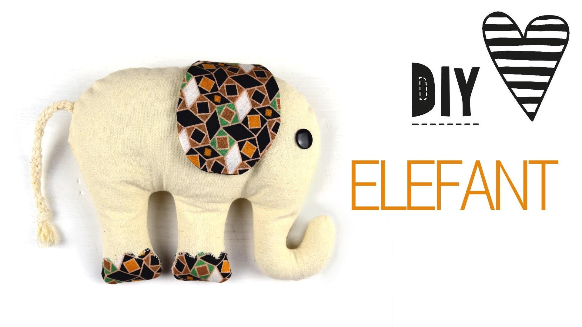 DIY Elefant Nähen. Kuscheltier mit Schnittmuster