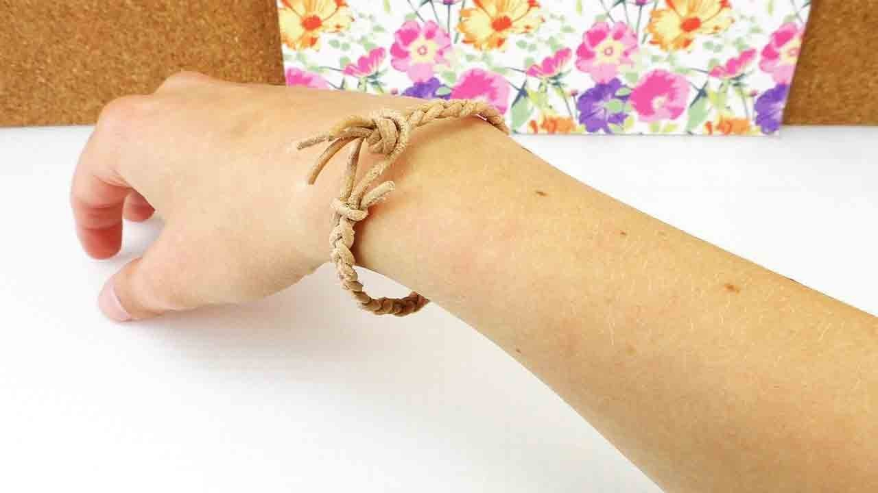 Armband geflochten   Super schnelles Freundschaftsarmband selber machen   DIY Bracelet