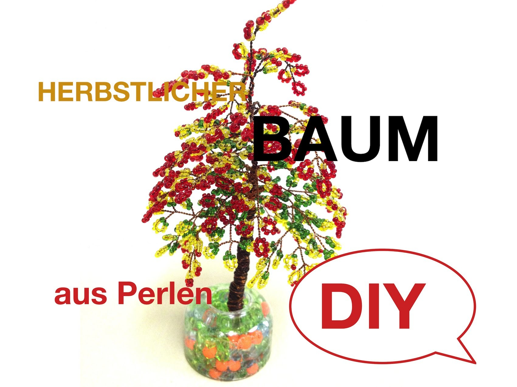 Bäume aus Glasperlen. Herbstlicher Baum. Trees out of beads. Biser. Anna's Perlen.
