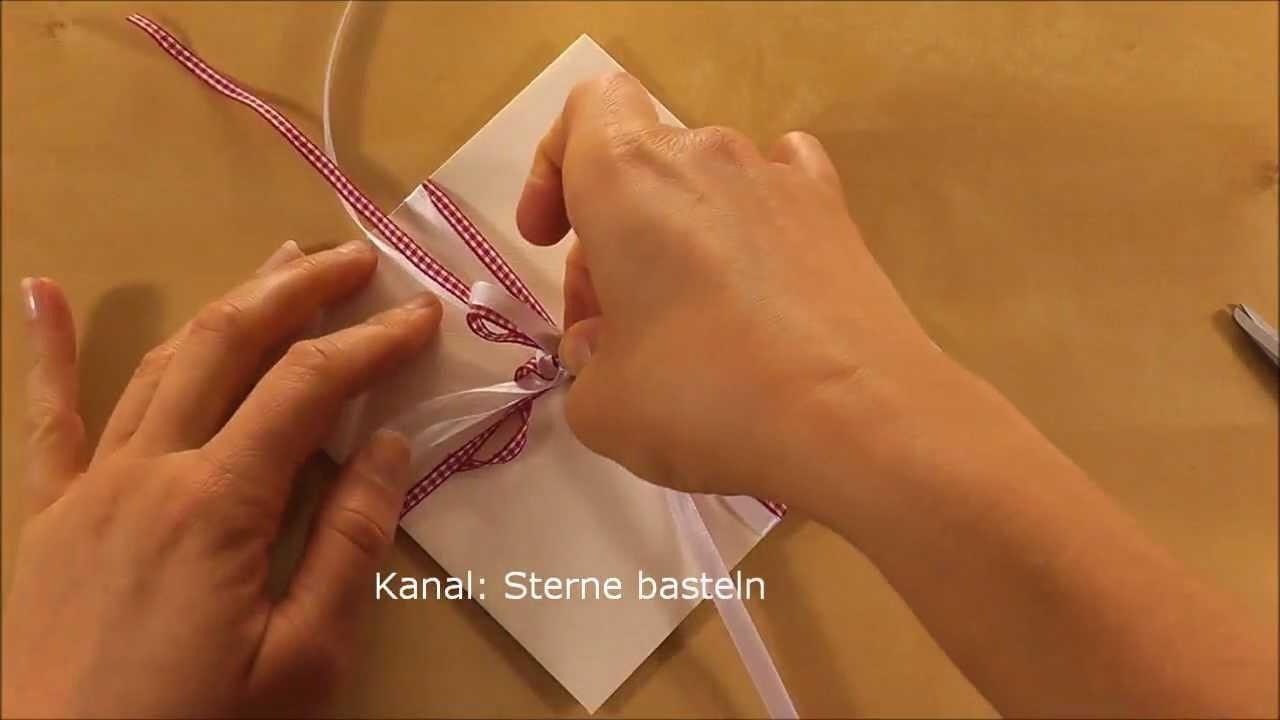 Gutscheine verpacken  - Gutschein als Geschenk verpacken - Basteln Ideen