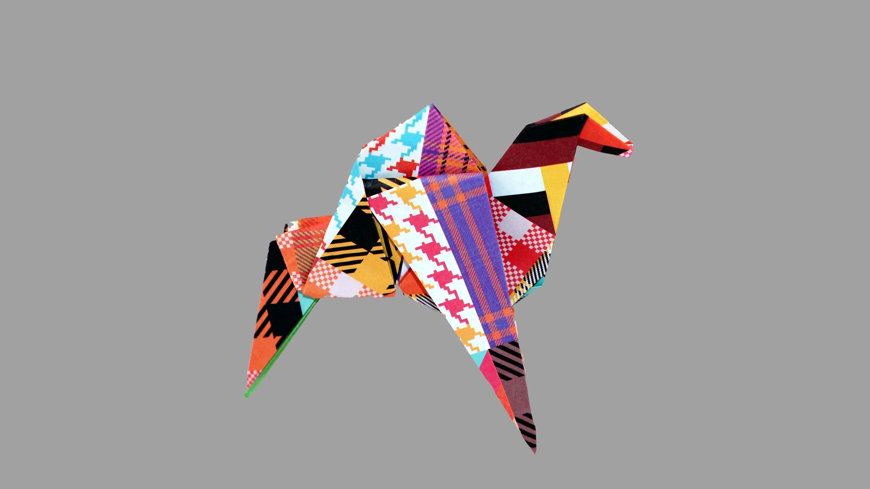 Origami Kamel (Camel) - Faltanleitung (Live erklärt)