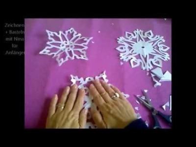 Schneeflocken, Schneesterne oder Schneekristalle basteln. Ideen  für Weihnachtsdeko