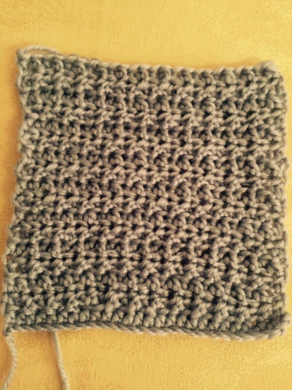 Ihr 86. Quadrat für ihre Patchwork Decke Häkeln Strukturmuster lernen!