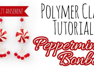 [PolymerClay Tutorial | Einfach] Pfefferminz Bonbon Ohrringe