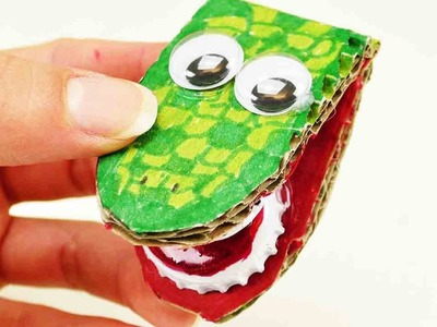 Spielzeug selber machen - Klapperkrokodil einfach selber machen