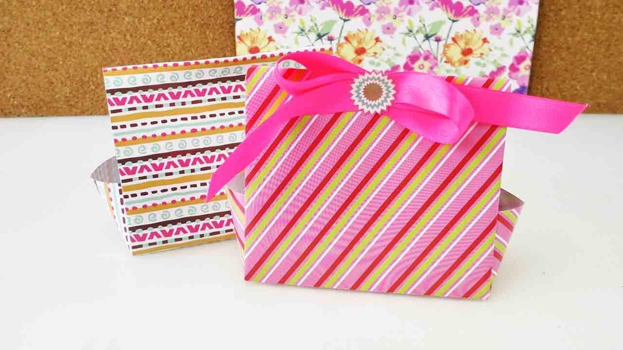 DIY Geschenkboxen für den Adventskalender falten | zum Geburstag & zu Weihnachten | Origami