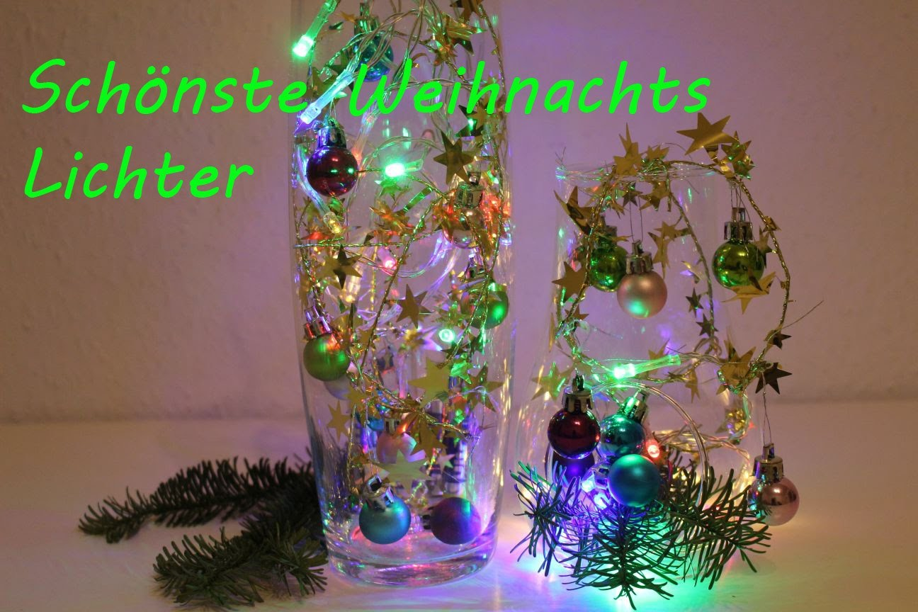 DIY Lichterkette, Schmuck aus Sternendraht - DIY Lights, jewelry from wire stars