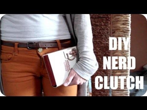 DIY Nerd-Clutch aus einem Buch (Geek, Vintage, Hipster)