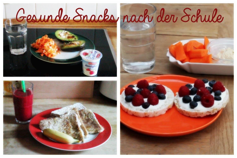 Gesunde Snacks nach der Schule - Rezeptideen (DIY, Deutsch)