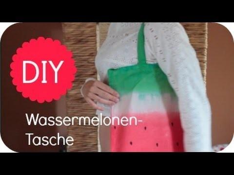 How To: DIY Wassermelonen-Leinenbeutel