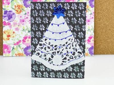 Weihnachtskarte einfach selber machen | Schöne Karte für Weihnachten basteln | Weihnachtsgrüße