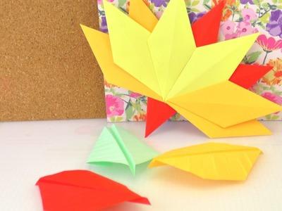 Fall Decor - Herbstdekoration - Blätter falten aus Papier - Zwei Methoden - Origami und Basteln