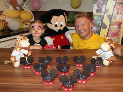 Mickey Mouse Muffins, Backen fuer Kinder Party- Majas kleine Backstube