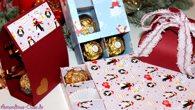 Pralinen- & Geschenkverpackungen | 3 Varianten | Pralinenschachtel | DIY
