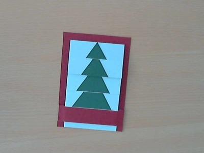Weihnachtskarte basteln (Wasserfallkarte)