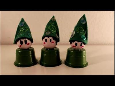 DIY: Weihnachten. Advent:  Wichtel und Zwerge basteln Upcycling Kaffeekapseln Tchibo oder Nespresso