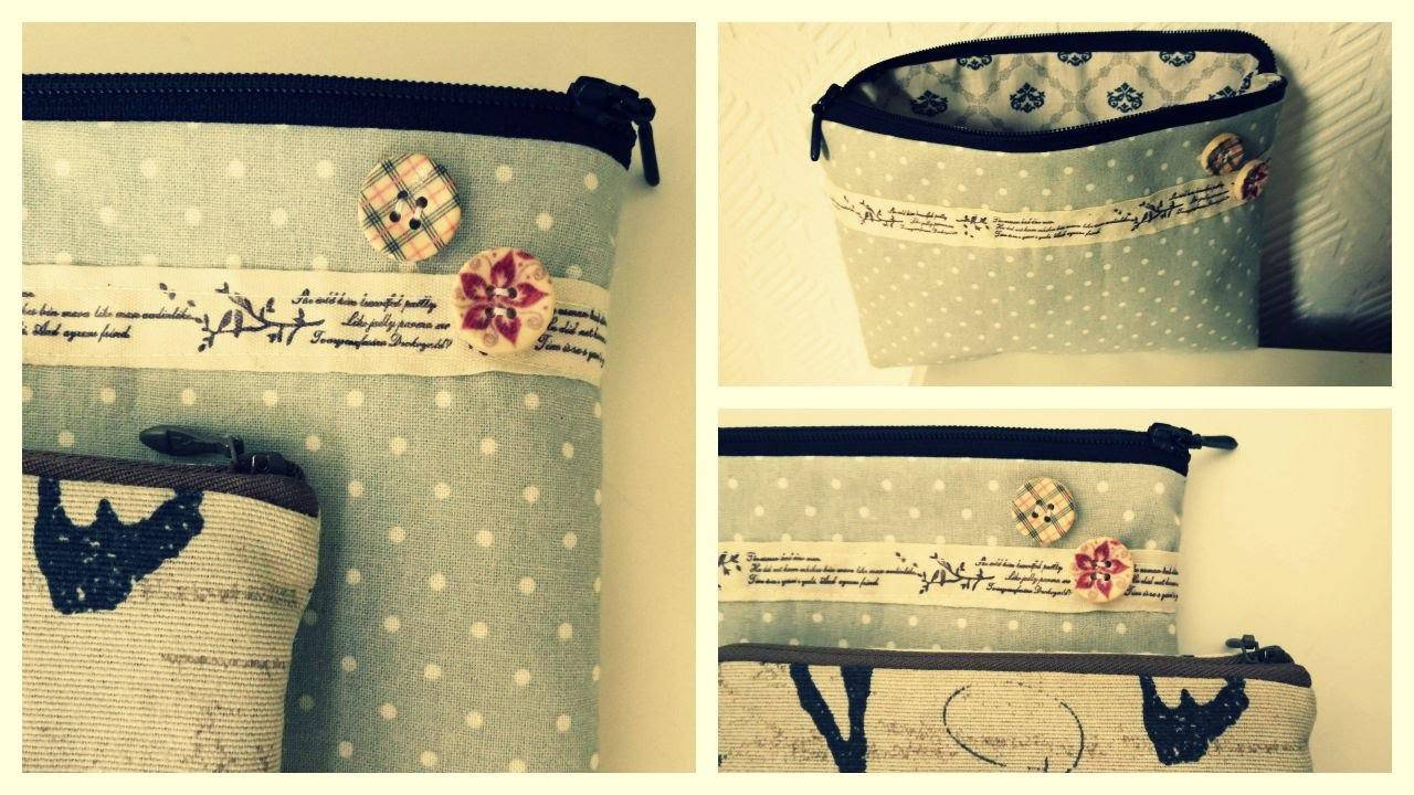 Tasche mit Reißverschluss nähen * DIY
