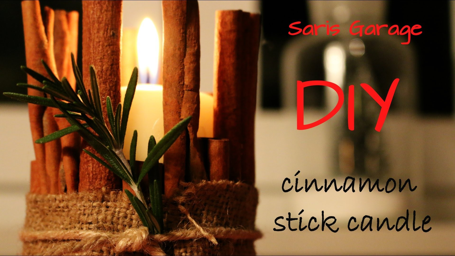 Zimtkerze. Cinnamon stick candle. DIY. X-MAS SPECIAL.