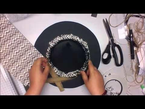 *watch me craft* Tutorial Hexenhut Herbst Dekoration