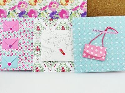 3 Karten mit Umschlägen für Gutscheine & Geldgeschenke | Tolle DIY Geburstagskarten
