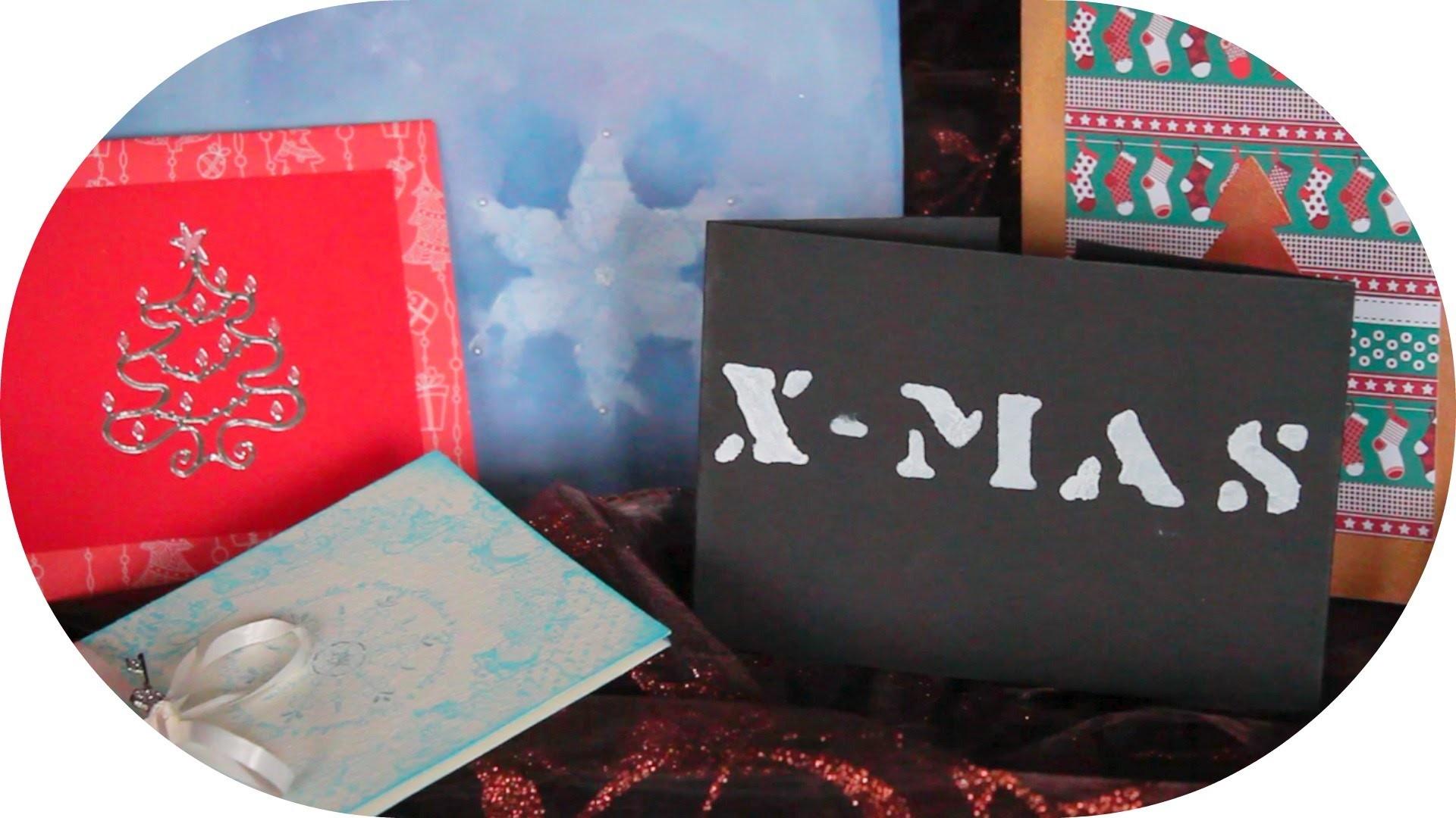 DIY: 5 Weihnachtskarten