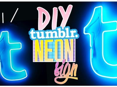 DIY tumblr NEON Light Sign! Neonlichter als Room Decor!