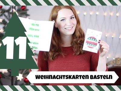 DIY Weihnachtskarten basteln I #LenaturnsTANNENBAUM