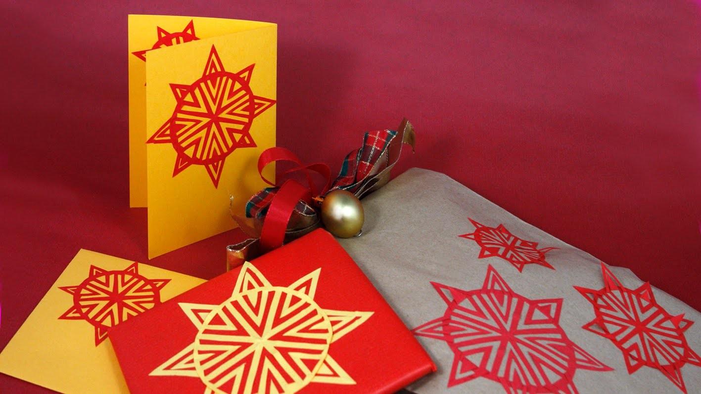 DIY Weihnachtsstern Teil 2- auf Verpackungen, Grußkarten, Windlicher .  by Lucky Beetle