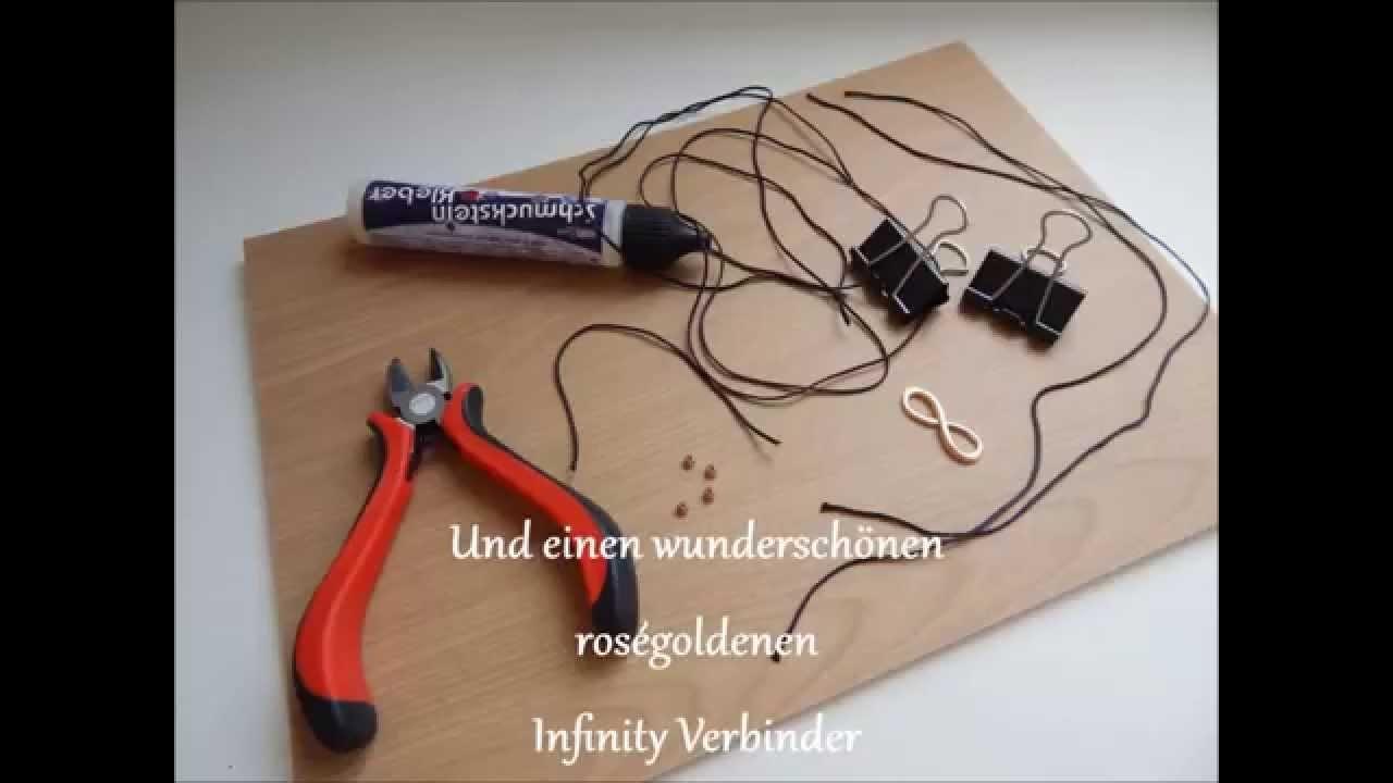 Infinity Armband in roségold -  DIY