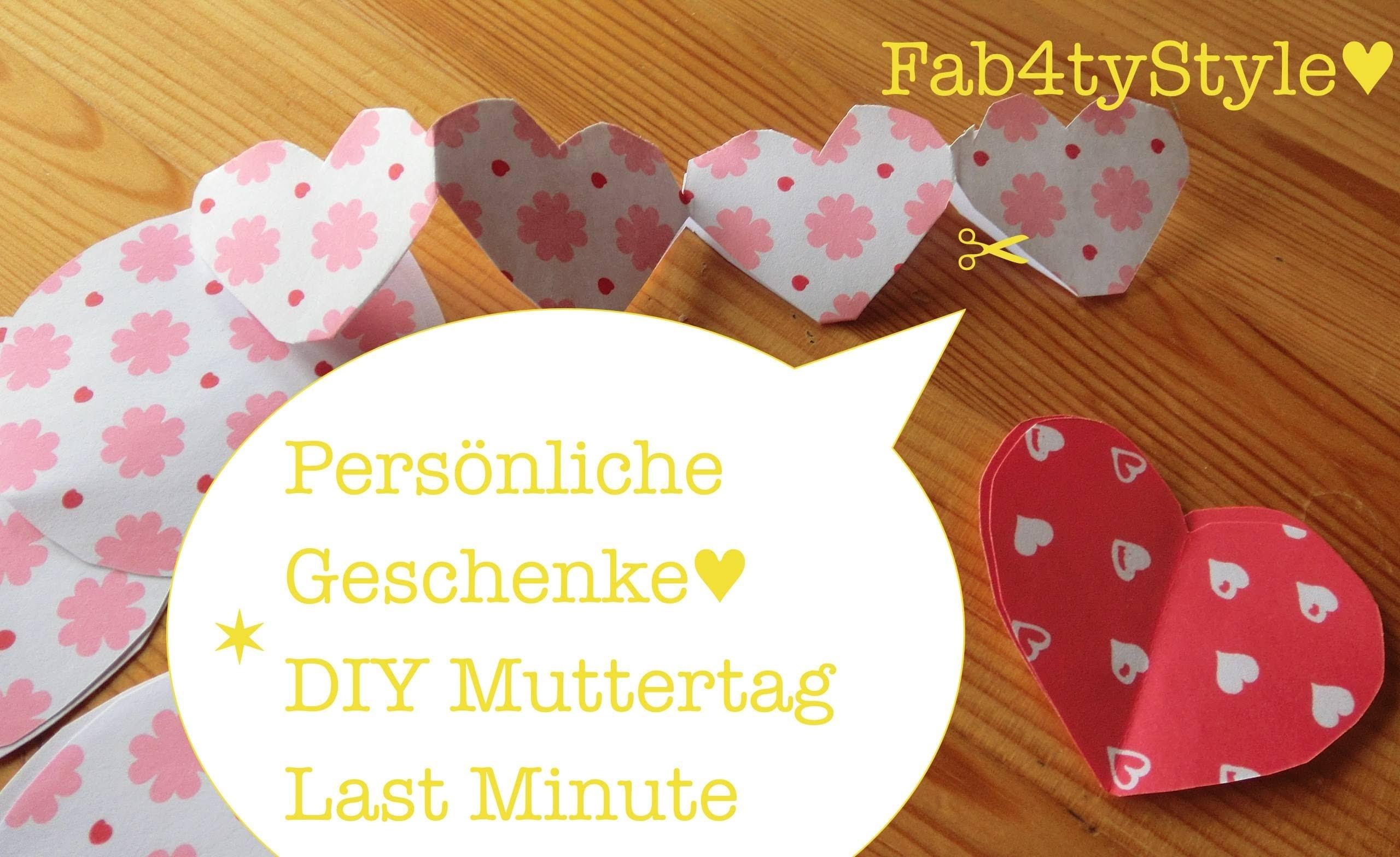 DIY | Muttertag | Wimpelkette selber machen ★ Pimp my gift ★ schnell Geschenke personalisieren ★