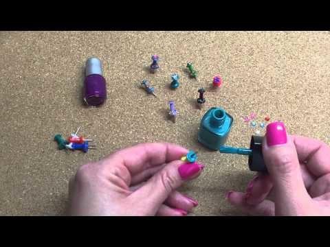 DIY Pinnwandnadeln dekorieren, schnelle Bastelidee