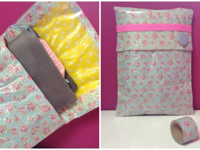 {(DIY)} Washitape Your Own Planner Pouch
