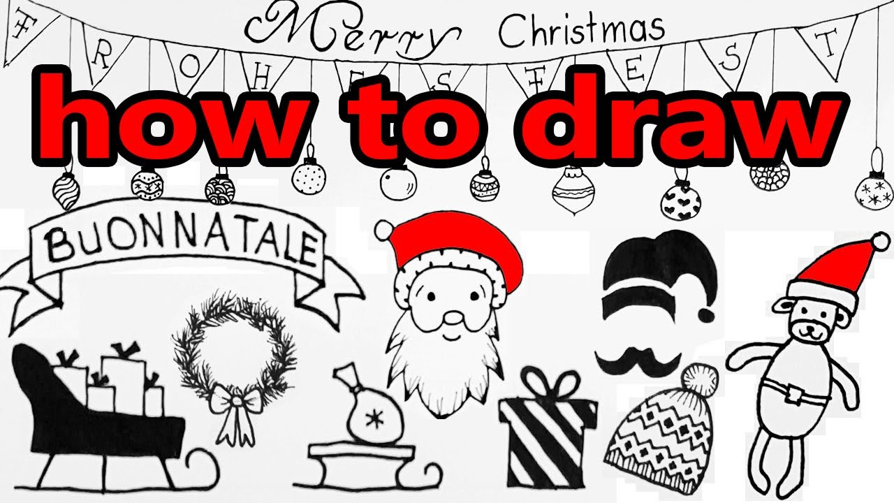 How to Draw CHRISTMAS Doodles ✶ DIY Tutorial ✶
