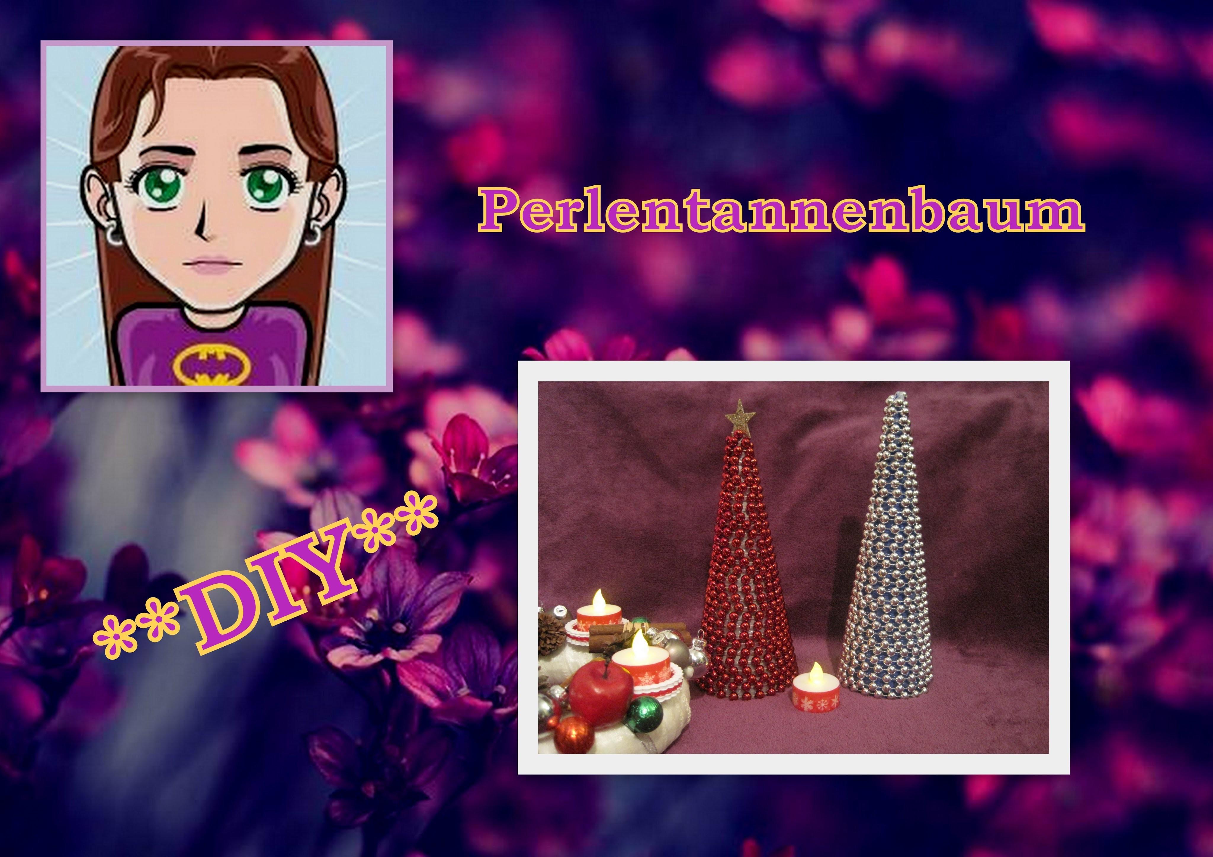 Perlentannenbaum, Weihnachtsdeko basteln, DIY Tutorial