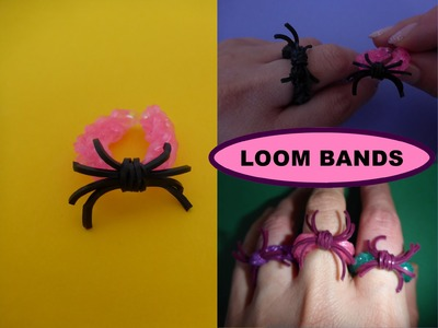 DIY Loom Bands Halloween Spinne, Ring, SCHNELL und EINFACH, Spider easy and cheap tutorial