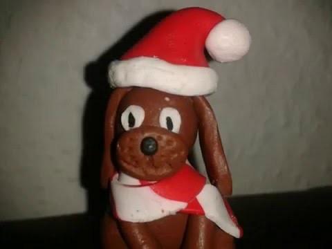 Fimo Tutorial Weihnachtshund