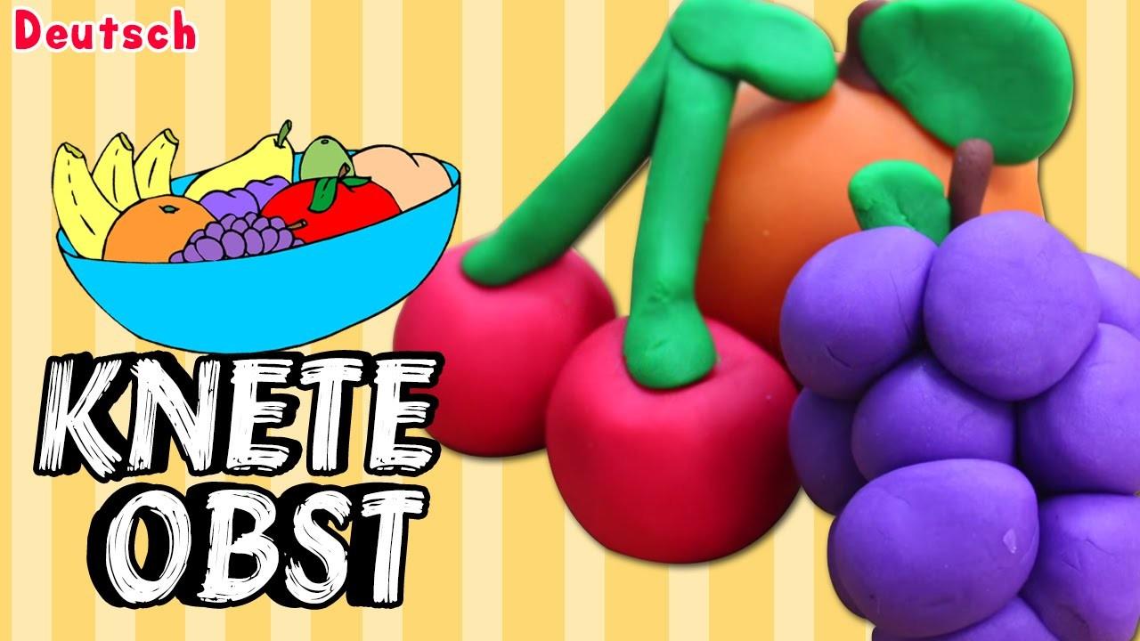 German DIY Einfach: How To Play Doh Fruit | Lernen Knete Obst Deutsch