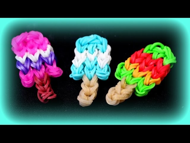 Loom Bands Eis Anleitung deutsch - Rainbow Loom Tutorial Ice Bastelideen