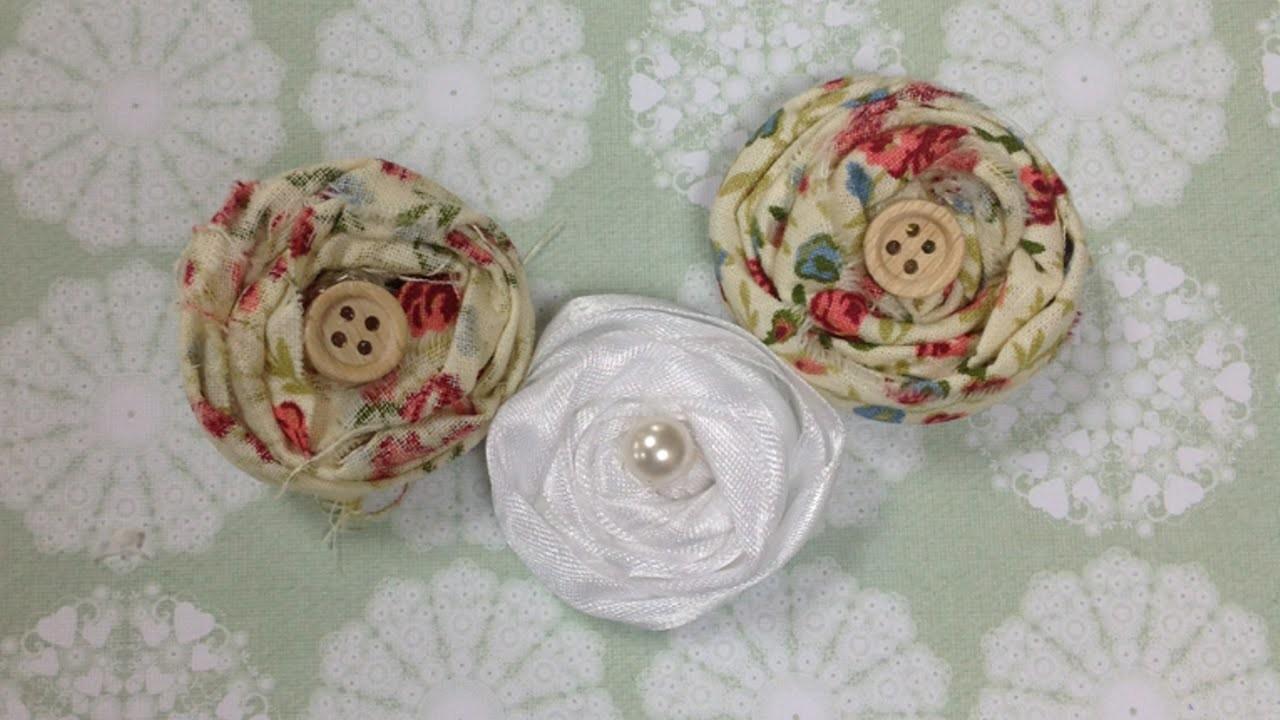 """Shabby Chic"" Stoffblumen Basteln - DIY Crafts - Guidecentral"
