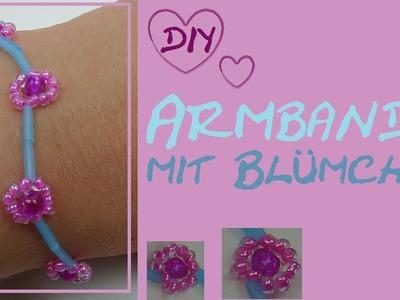 DIY Bracelet. Armband oder Kette mit Blumen aus Perlen selber machen (mit Djeco Perlenset)