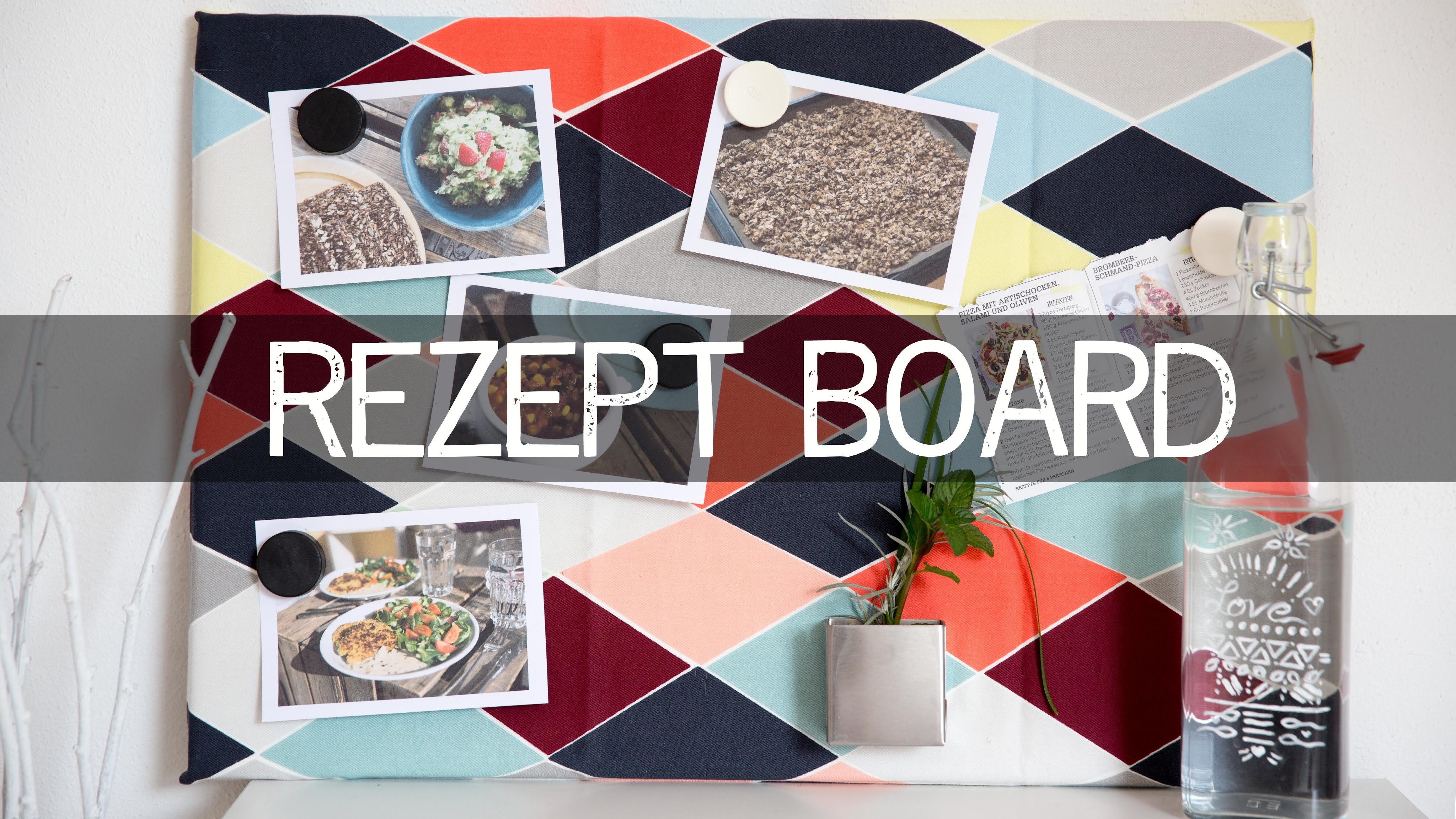 DIY Rezeptwand - Essensinspiration & Lieblingsrezepte - kekulo