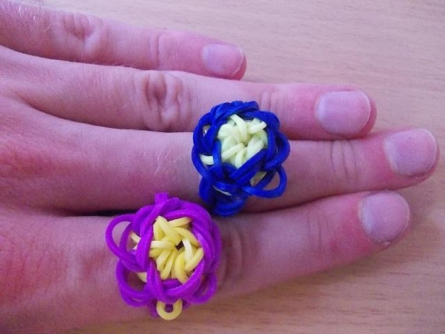 Loom Bands Anleitung deutsch - Blumen Ring - Rubber Bands tutorial ring