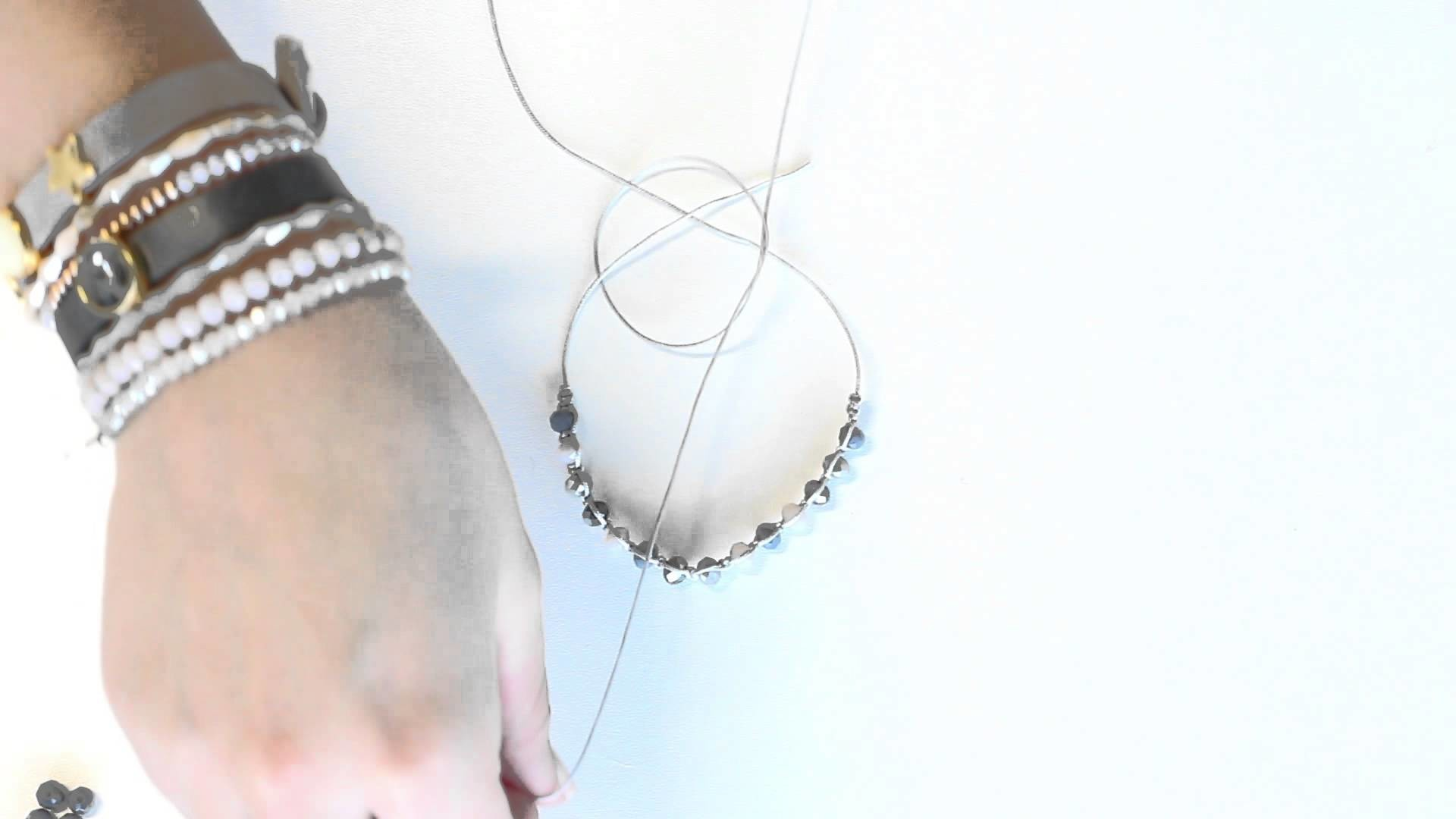 DIY: Armband m mit Macramé und Top Facett Perlen