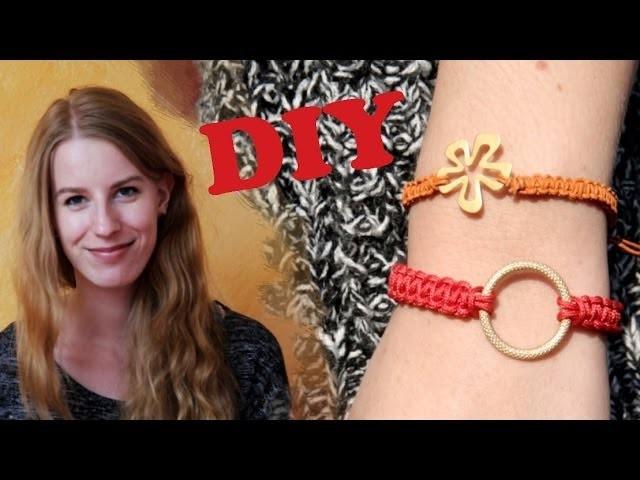DIY individuelles Sommerarmband mit Kreuzknotentechnik