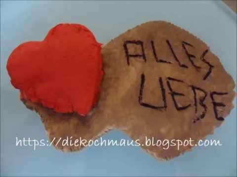 DIY Basteln Türschild Geschenk Alles Liebe
