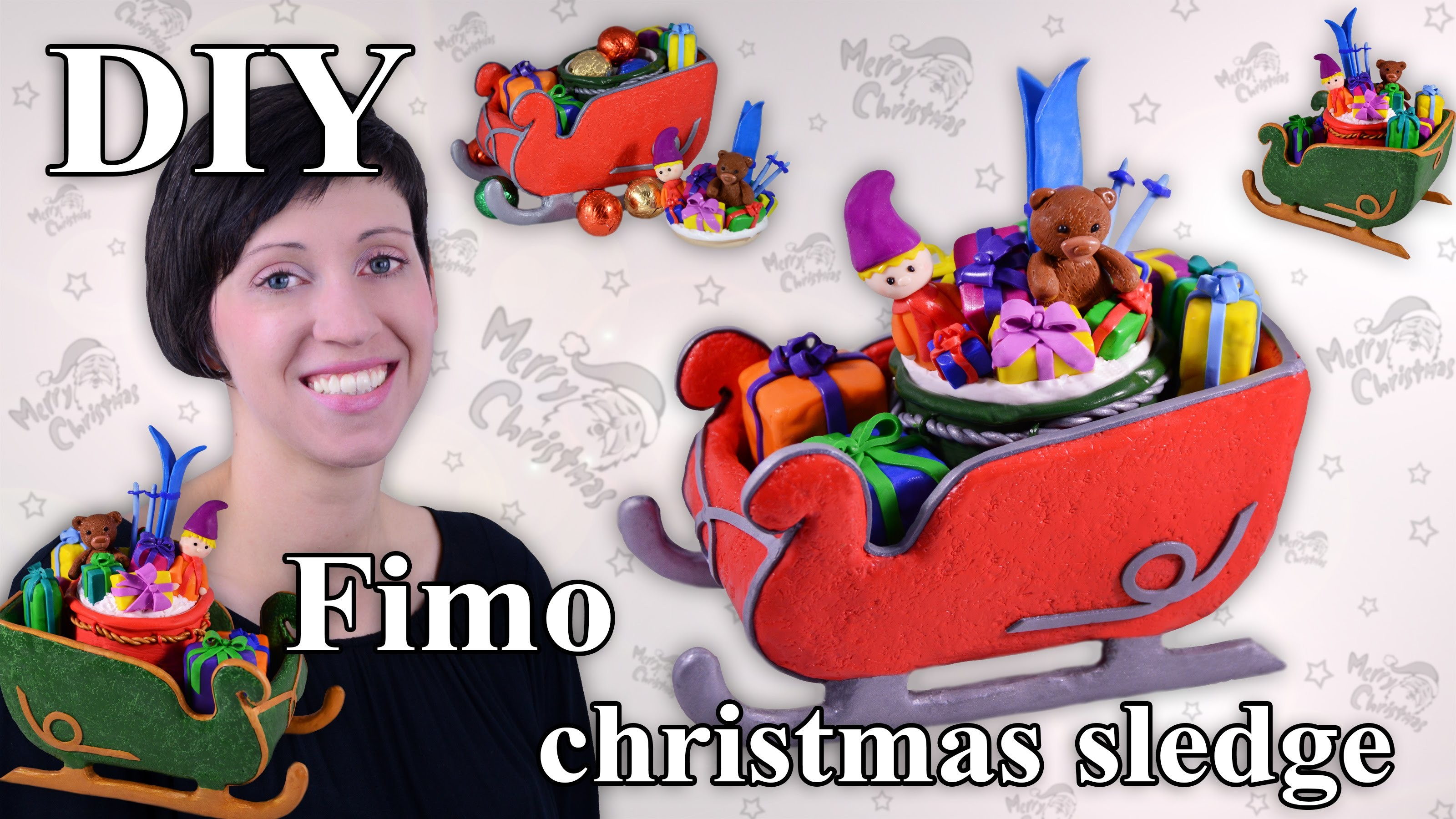 FIMO Schlitten: Polymer Clay Sledge - Tutorial [HD.DE] (EN-Sub)