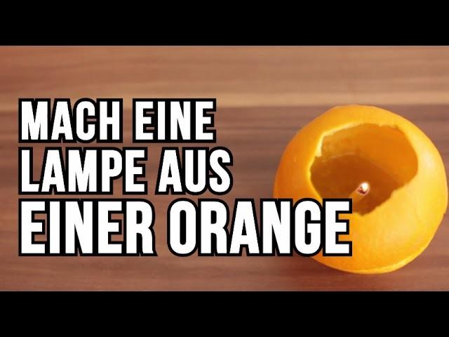Mach eine Lampe aus einer Orange - DIY