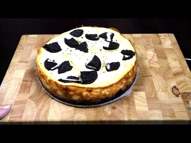 Oreo Käsekuchen Rezept. Oreo Cheesecake Tutorial. Kekse Kuchen Anleitung | deutsch
