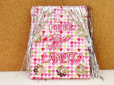 Leinwand mit Lametta | Weihnachtliche Deko selber machen | Geschenkidee | Weihnachten