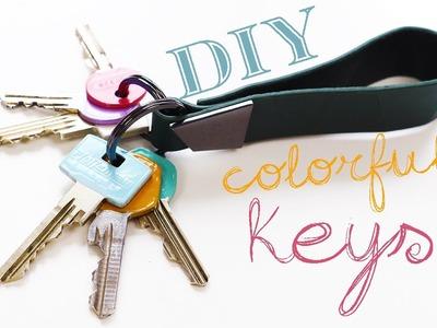 Quick DIY - Colorful Keys